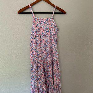 Chaps Floral Print Dress Kids L